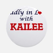 Madly in Love with Kailee Round Ornament