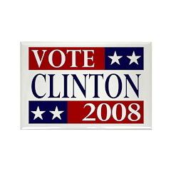 Vote Clinton 2008 Rectangle Magnet