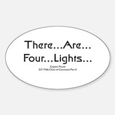 There..are..four..lights.. Oval Decal