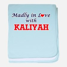 Madly in Love with Kaliyah baby blanket