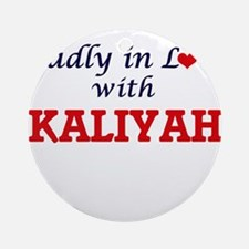 Madly in Love with Kaliyah Round Ornament