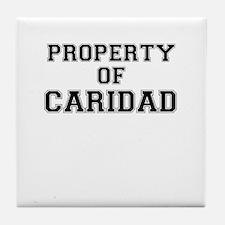 Property of CARIDAD Tile Coaster