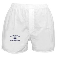 Sleep With A Cop Boxer Shorts