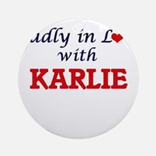Madly in Love with Karlie Round Ornament