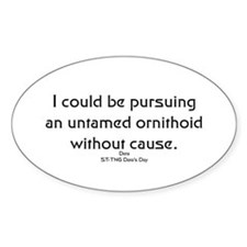 I could be pursuing... Oval Decal