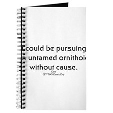 I could be pursuing... Journal