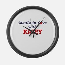 Madly in Love with Kasey Large Wall Clock