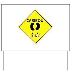 Caribou Crossing Yard Sign
