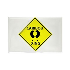 Caribou Crossing Rectangle Magnet
