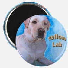 Yellow Labrador Retriever 2 Magnet