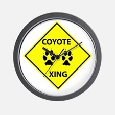 Coyote Crossing Wall Clock