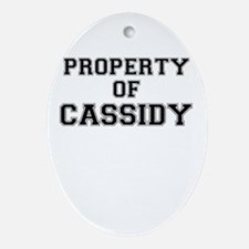 Property of CASSIDY Oval Ornament