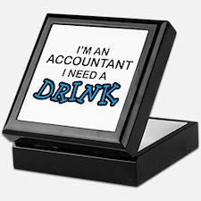 Accountant Need a Drink Keepsake Box