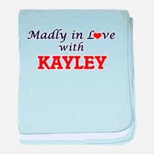 Madly in Love with Kayley baby blanket