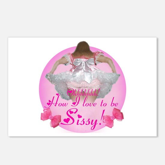 Ohhhhh How I love to be Sissy Postcards (Package o