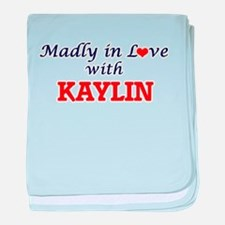 Madly in Love with Kaylin baby blanket