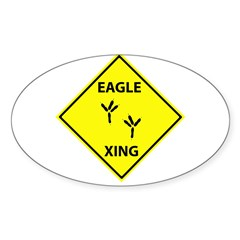 Eagle Crossing Oval Decal
