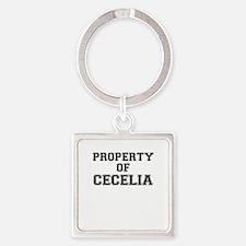 Property of CECELIA Keychains