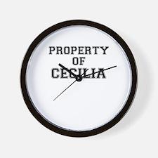 Property of CECILIA Wall Clock