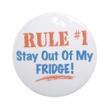 Fridge Kitchen Humor Ornament (Round)