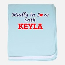 Madly in Love with Keyla baby blanket