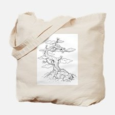 Ink Dragon Tree Tote Bag