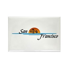 San Francisco Sunset Rectangle Magnet