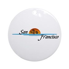San Francisco Sunset Ornament (Round)