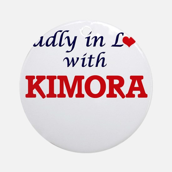Madly in Love with Kimora Round Ornament