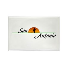 San Antonio Sunset Rectangle Magnet