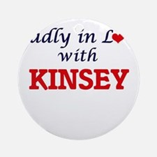 Madly in Love with Kinsey Round Ornament