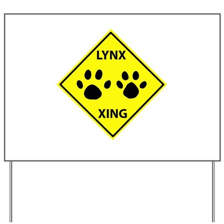 Lynx Crossing Yard Sign