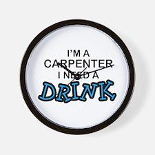 Carpenter Need Drink Wall Clock