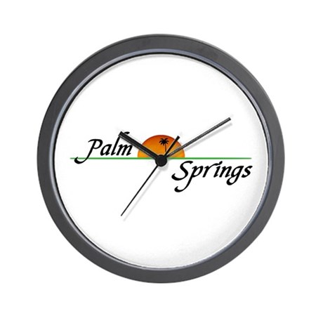 Palm Springs Sunset Wall Clock