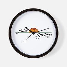 Palm Springs Sunset Wall Clock