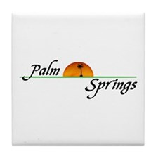 Palm Springs Sunset Tile Coaster