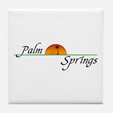 Palm Springs Sunset Tile Coaster