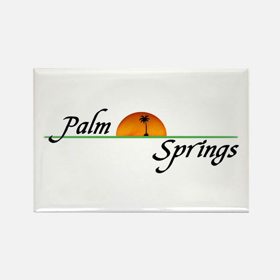 Palm Springs Sunset Rectangle Magnet