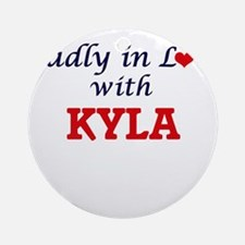 Madly in Love with Kyla Round Ornament