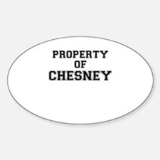 Property of CHESNEY Decal