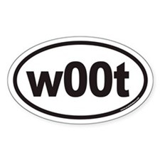 w00t Euro Oval Decal