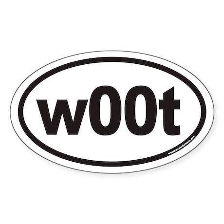 w00t Euro Oval Sticker