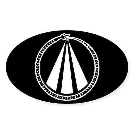 Druid Snake Sticker (Oval)