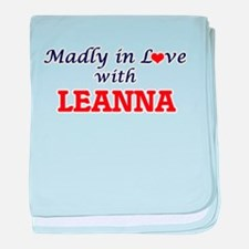 Madly in Love with Leanna baby blanket