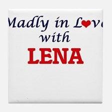 Madly in Love with Lena Tile Coaster