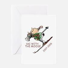 Moose Ski Greeting Card