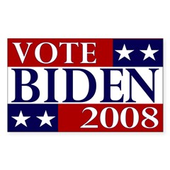 Vote Biden 2008 Bumper Decal