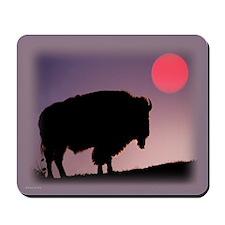 Buffalo Silhouette Mousepad