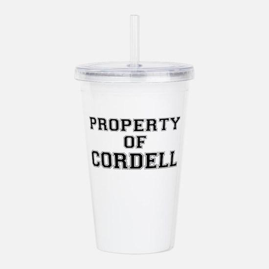Property of CORDELL Acrylic Double-wall Tumbler