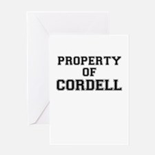 Property of CORDELL Greeting Cards